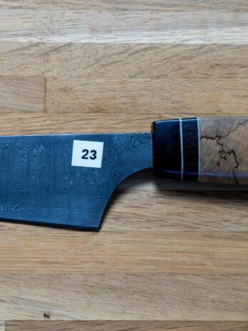 23 Kokkekniv af bøg, ibenholt og moseeg