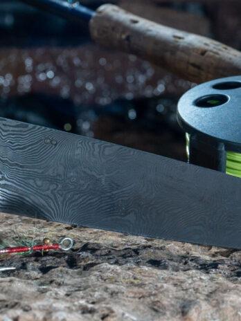 24 Kokkekniv af bøg og ibenholt